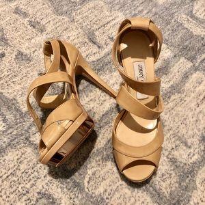 [Jimmy Choo] Nude Patent Heels